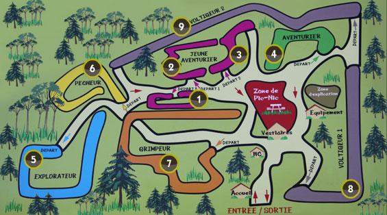 Carte parcours escalad parc